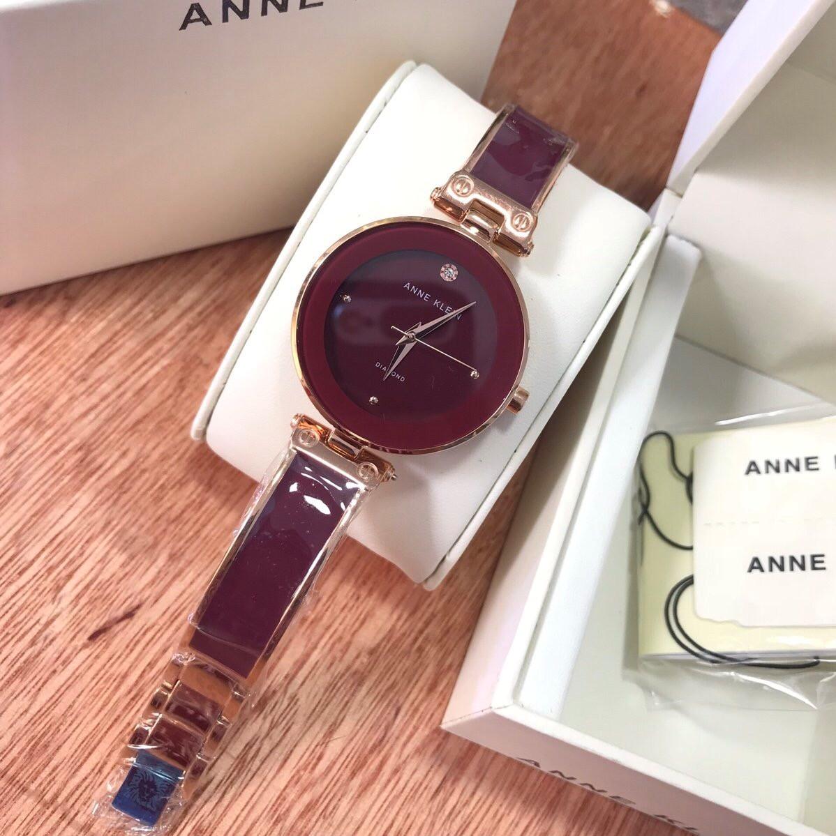 Đồng Hồ Anne Klein Nữ Màu Đỏ Mận 28mm (Rose Gold)