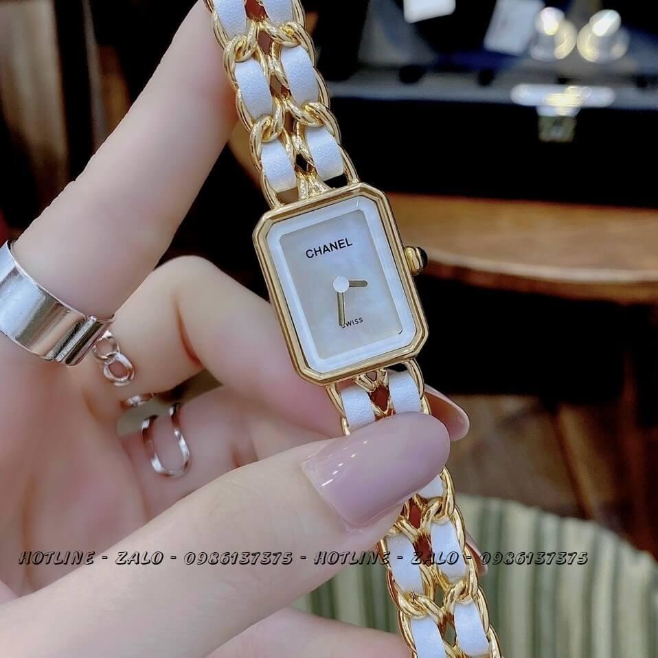 Đồng Hồ Nữ Chanel Première Dây Xích Trắng Gold 20x28mm