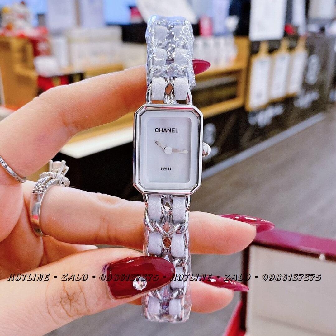 Đồng Hồ Nữ Chanel Première Dây Xích Trắng Silver 20x28mm