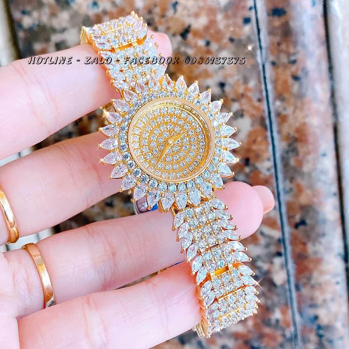 Đồng Hồ Chopard Nữ Đính Xoàn Gold 32mm