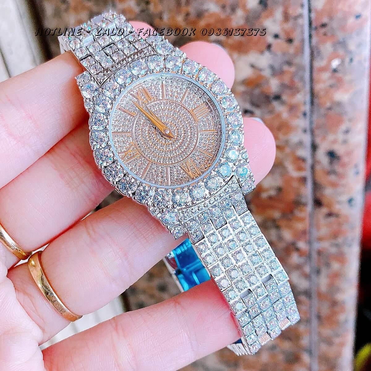 Đồng Hồ Chopard Nữ Đính Xoàn Silver 31mm