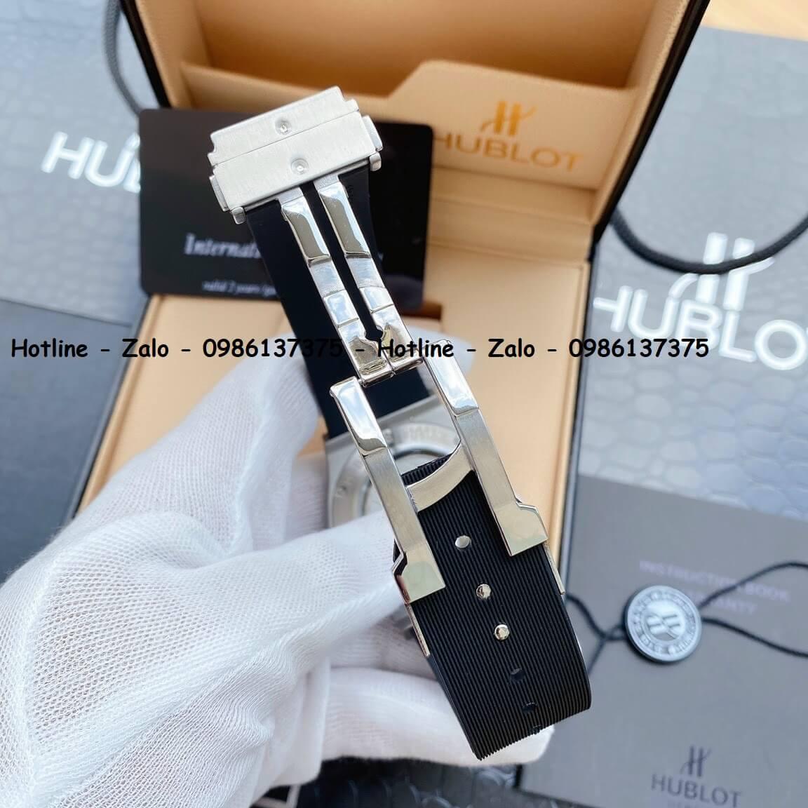 Đồng Hồ Hublot Automatic Nam Siêu Cấp Dây Silicon Đen 42mm