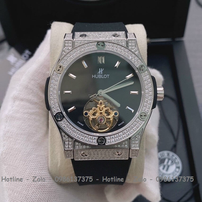 Đồng Hồ Hublot Classic Fusion Automatic Nam Dây Silicon Đen 42mm