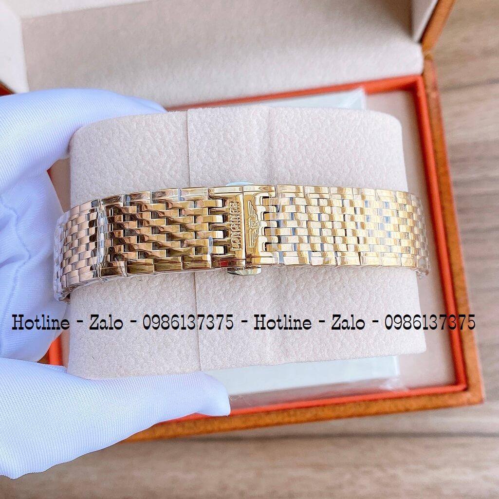 Đồng Hồ Nam Longines Quartz Vàng Siêu Cấp 40mm Mặt Đính Đá
