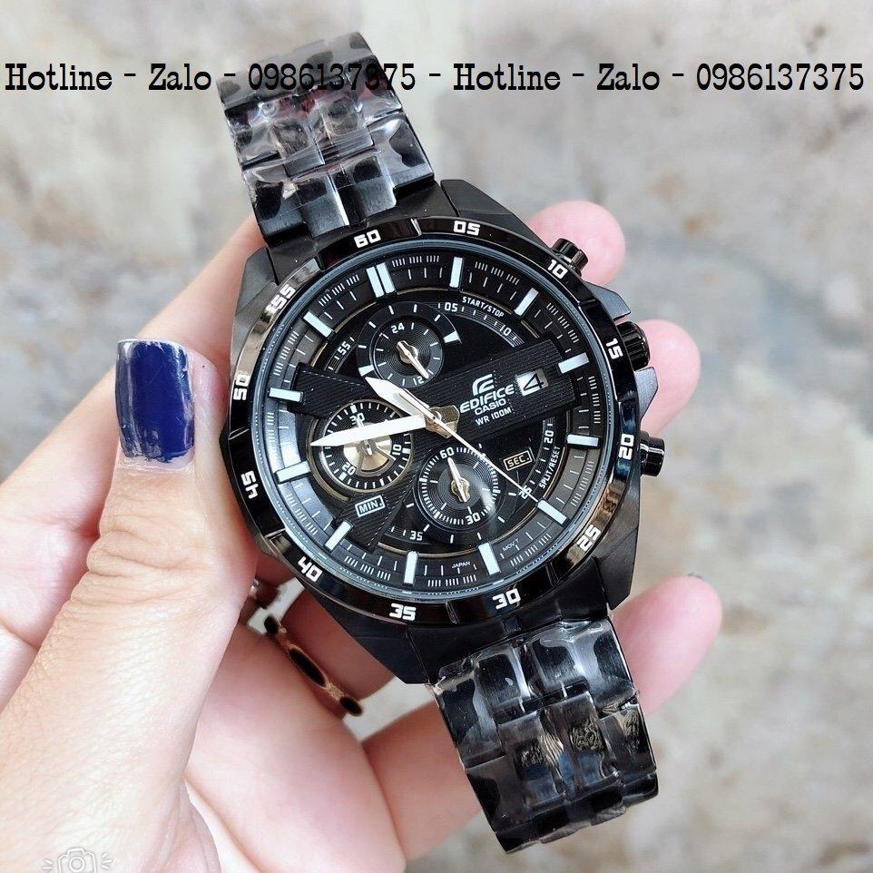Đồng Hồ Nam CASIOEdifice EFR-556D Full Đen48mm
