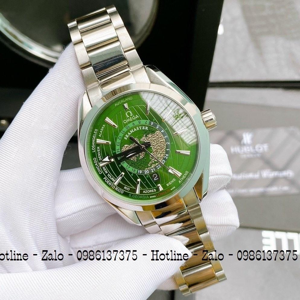 Đồng Hồ Nam OMEGA Automatic Dây Bạc Mặt Green 42mm