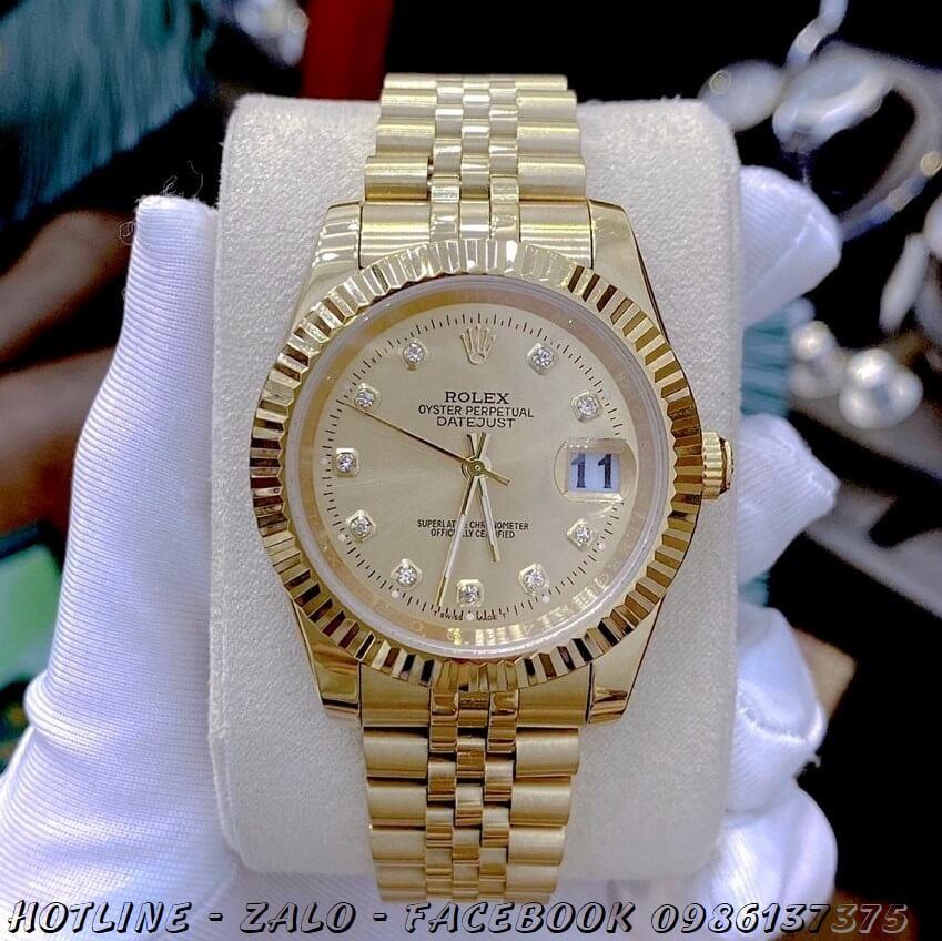 Đồng Hồ Nam Rolex Oyster Datejust Automatic Vàng Mặt Vàng 41mm