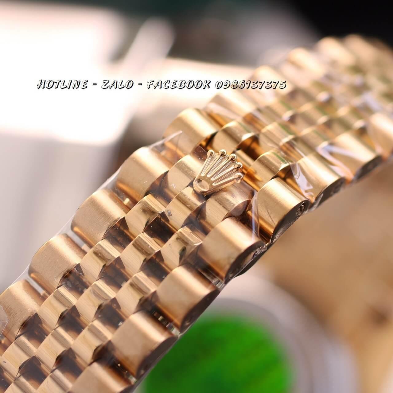 Đồng Hồ Rolex Nữ Vàng Mặt Trắng Máy Pin 32mm