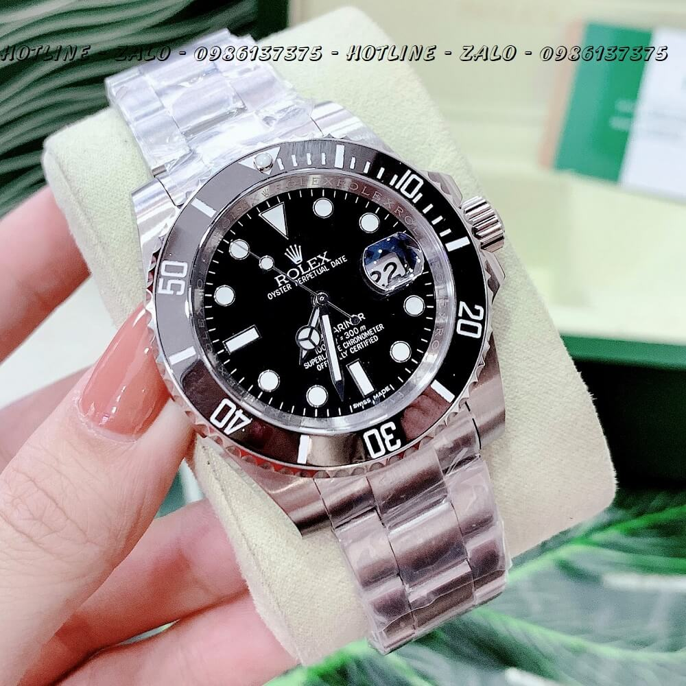 Đồng Hồ Nam Rolex Oyster Perpetual Submariner Date Automatic 40mm - Bạc Mặt Đen