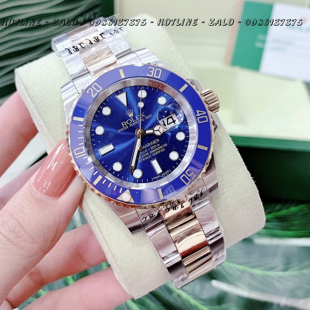 Đồng Hồ Nam Rolex Oyster Perpetual Submariner Date Automatic 40mm - Demi Mặt Xanh