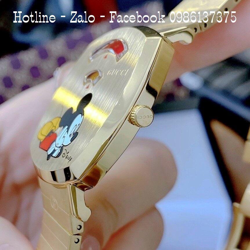 Đồng Hồ Nữ Gucci Disney Vàng 34x34mm Siêu Cấp