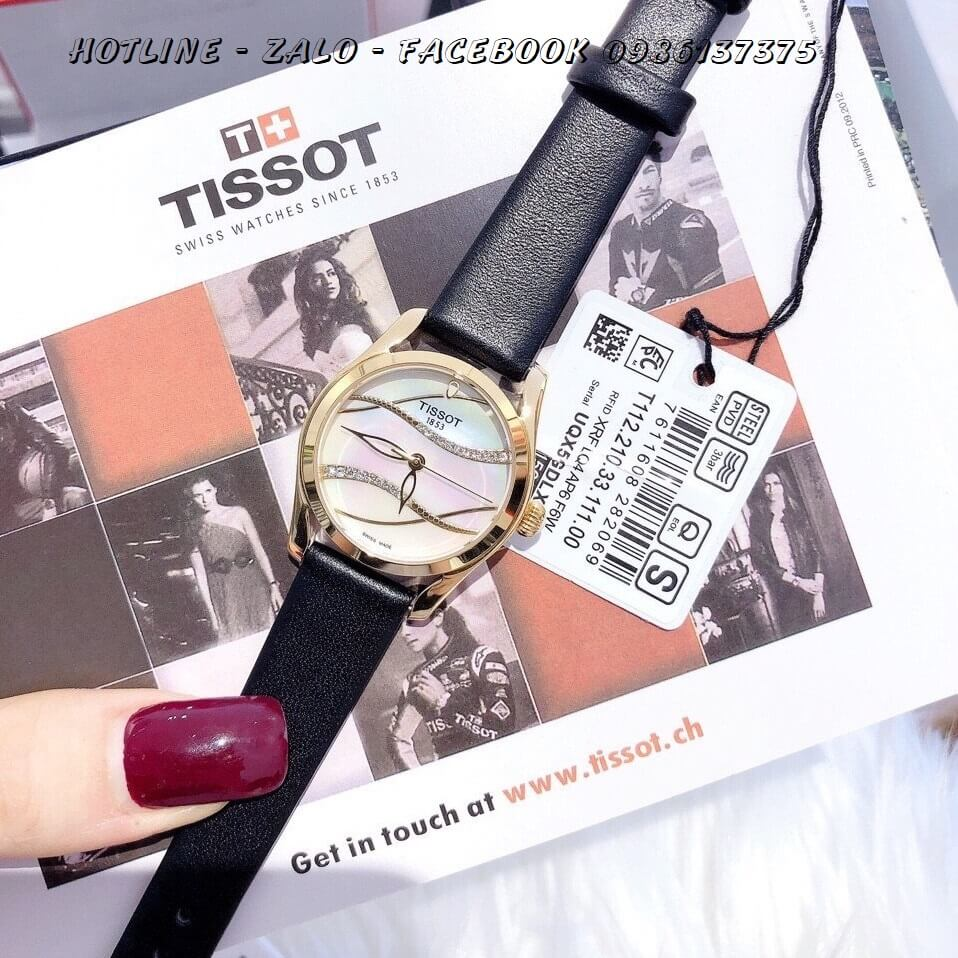 Đồng Hồ Tissot Nữ Dây Da Đen Cao Cấp 33mm