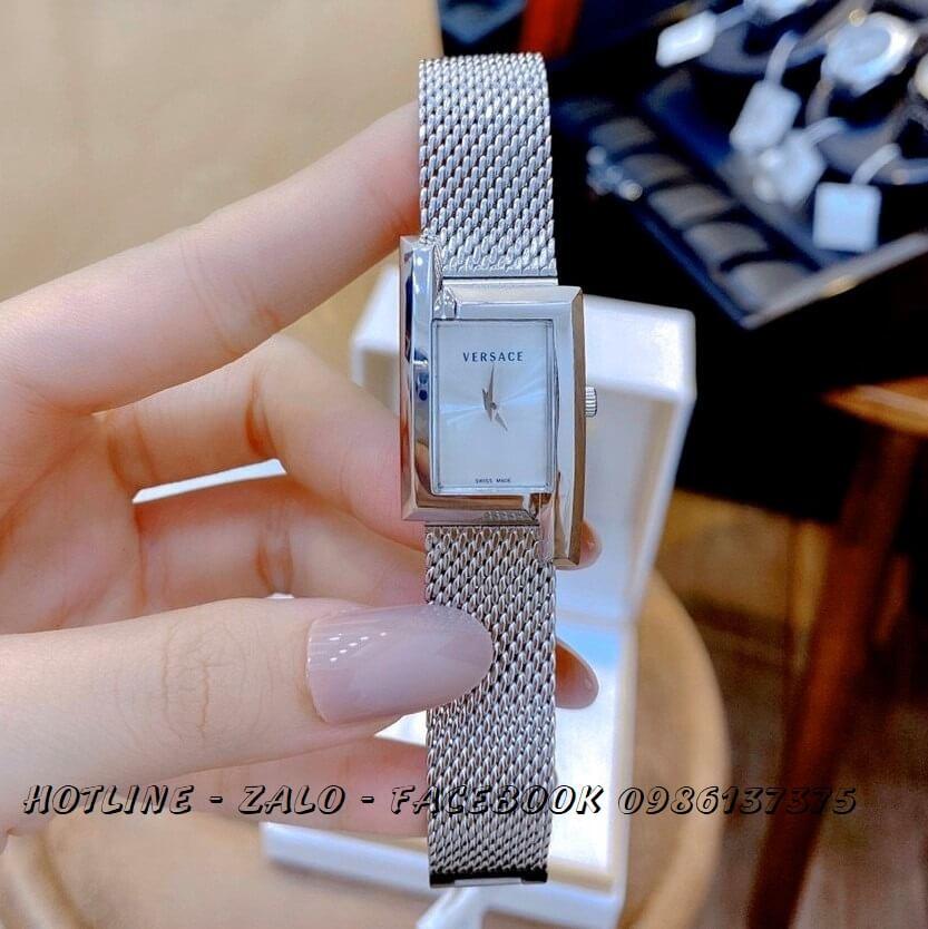 Đồng Hồ Nữ Versace Greca Icon 39x21mm Silver
