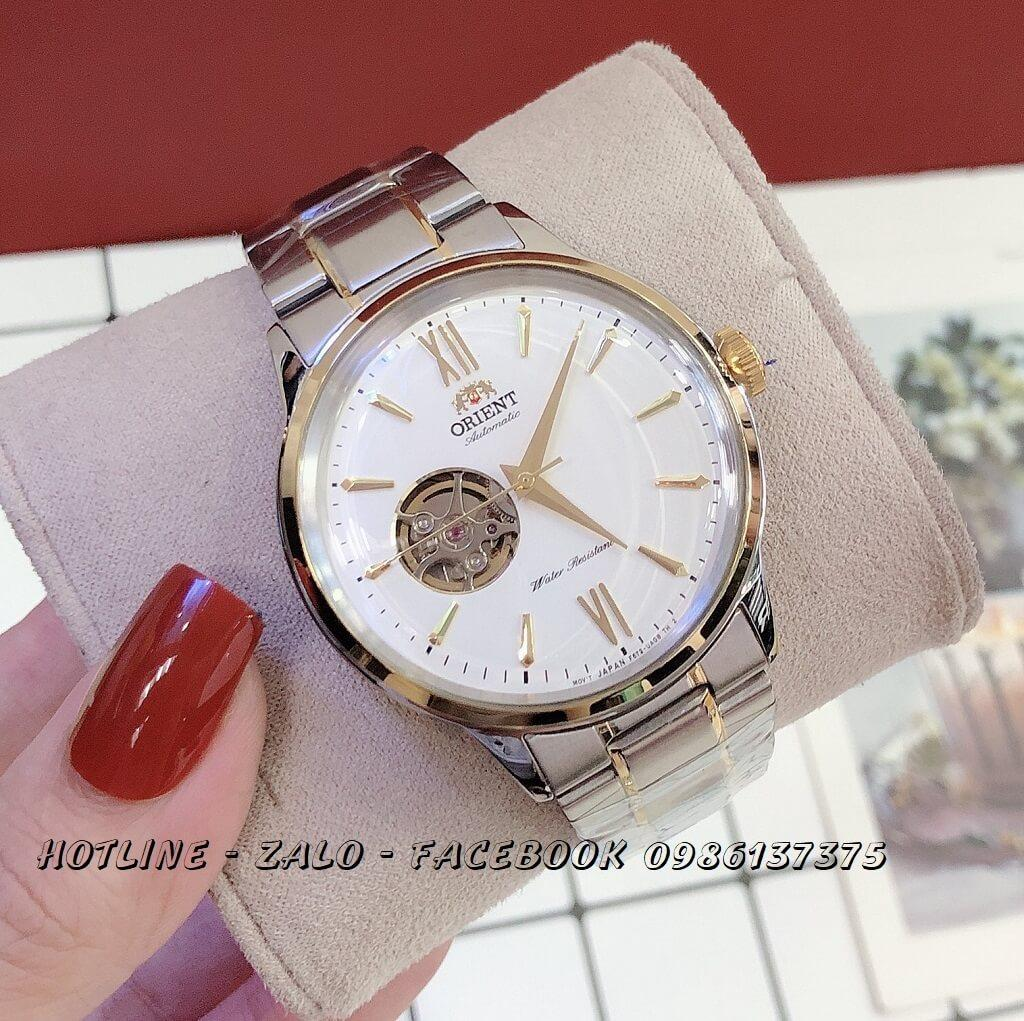 Đồng Hồ Orient Nam Automatic Dây Demi Mặt Trắng 42mm