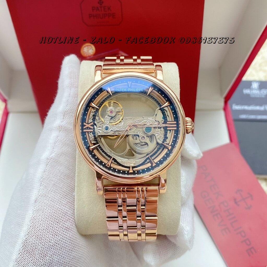 Đồng Hồ Nam Patek Philippe Automatic 42mm Rose Gold PTKPL12