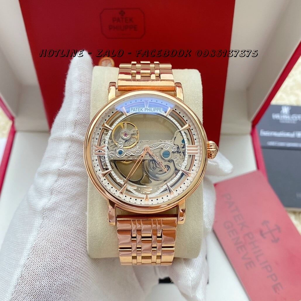 Đồng Hồ Nam Patek Philippe Automatic 42mm Rose Gold PTKPL11