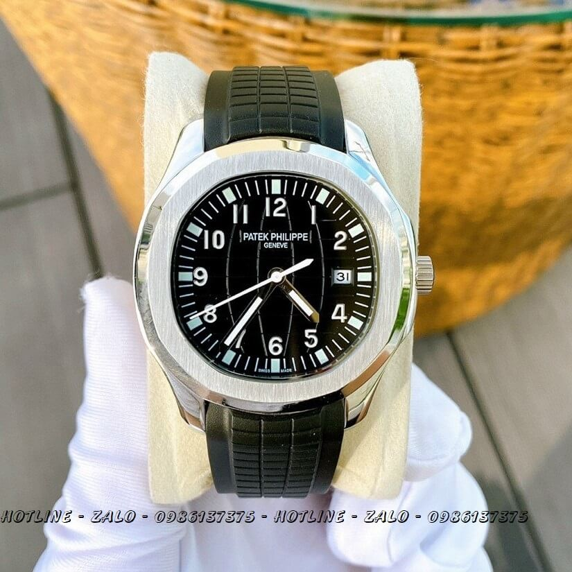 Đồng Hồ Patek Philippe Nam Automatic Dây Silicon Đen 40mm
