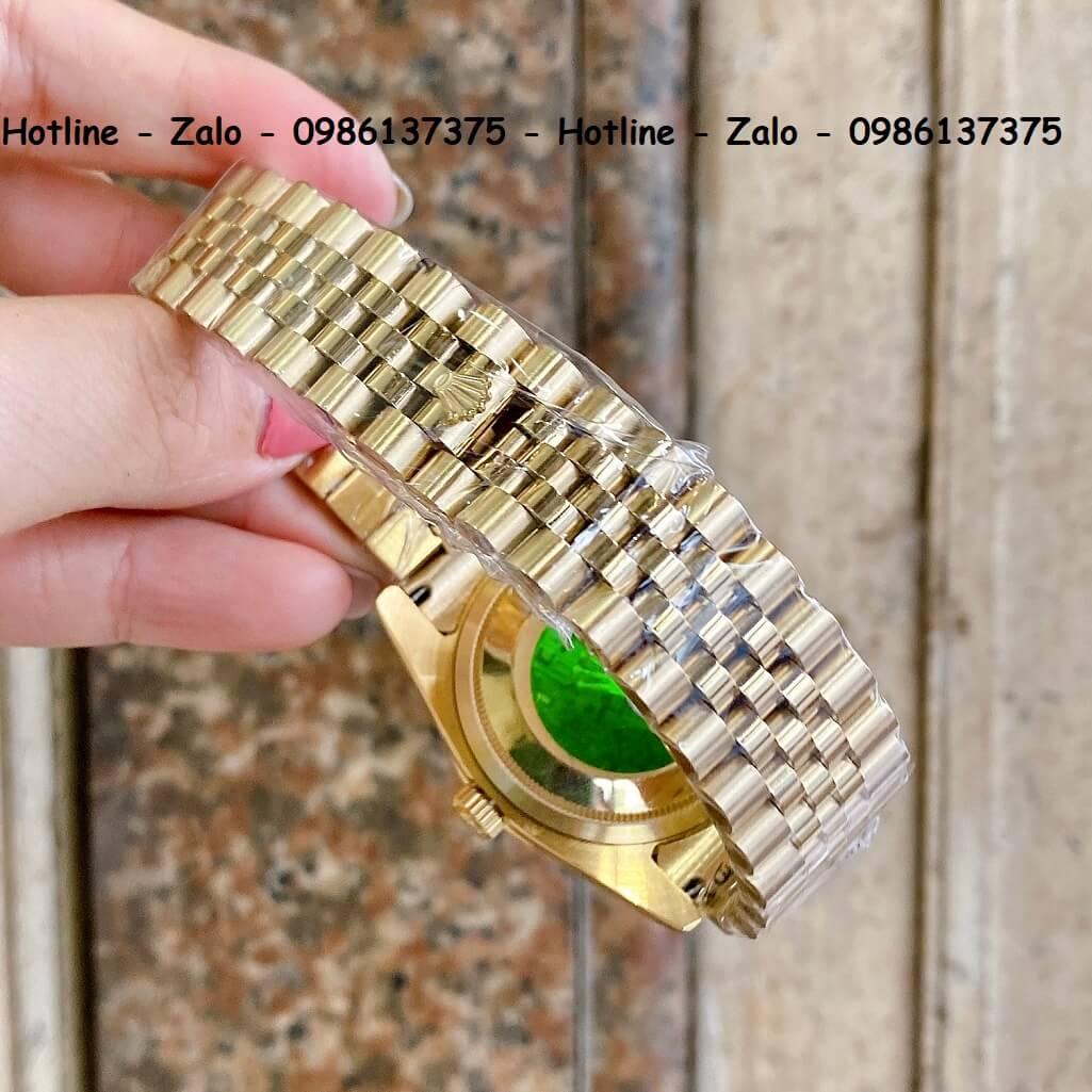 Đồng Hồ Cặp Rolex Quartz Siêu Cấp Vàng Mặt Vàng Xà Cừ