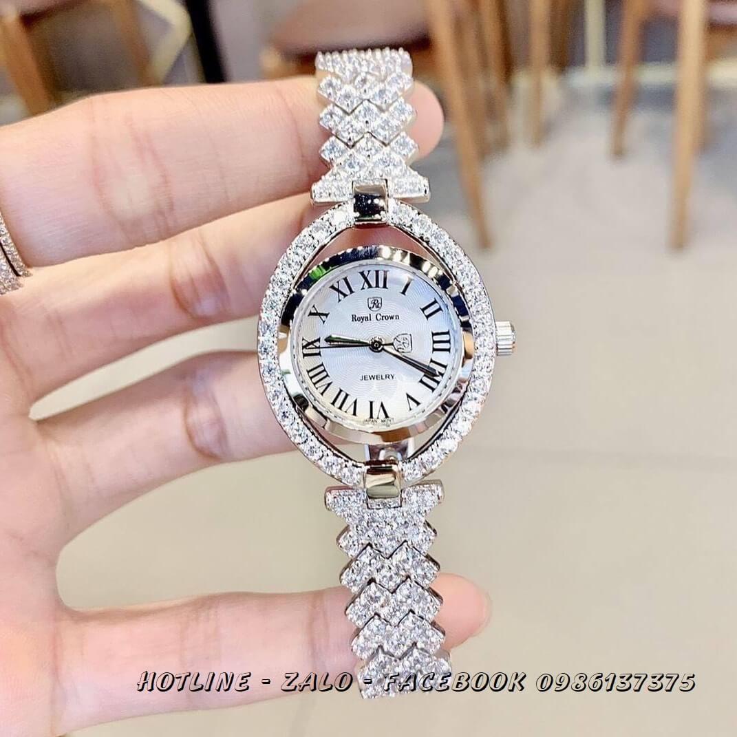 Đồng Hồ Nữ Royal Crown 4610 Silver 28x35mm