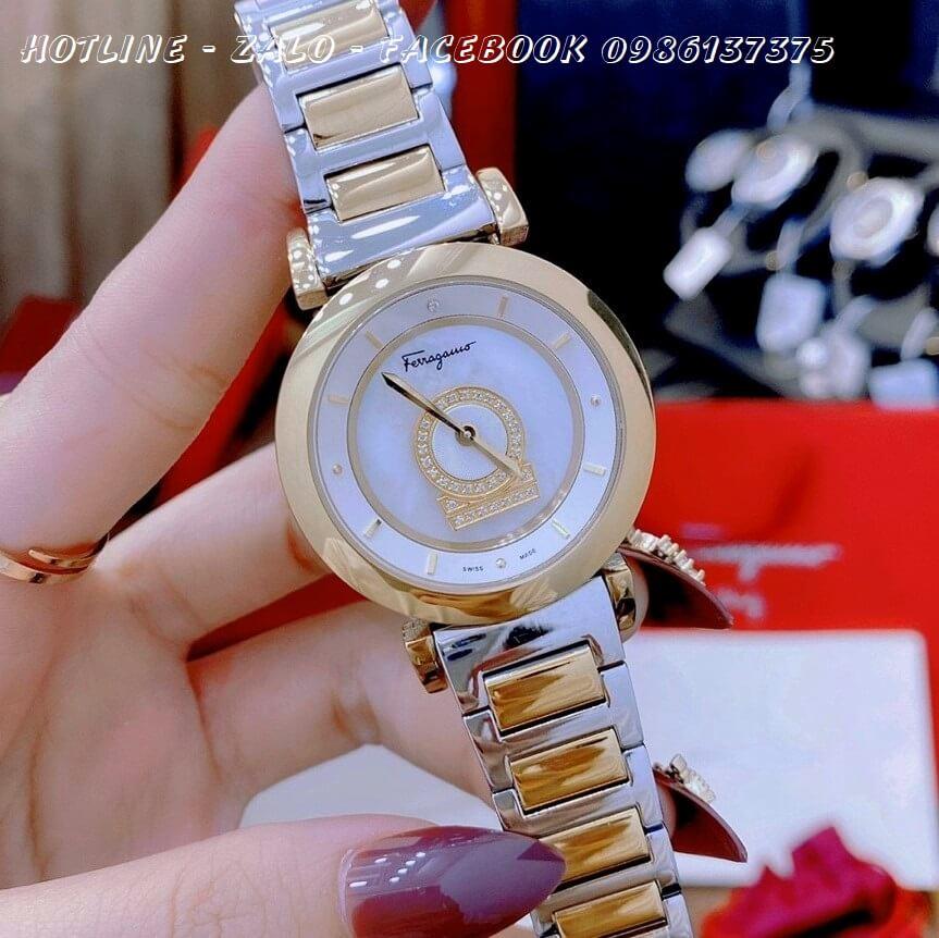 Đồng Hồ Nữ Salvatore Ferragamo Minuetto Diamond 36mm Demi