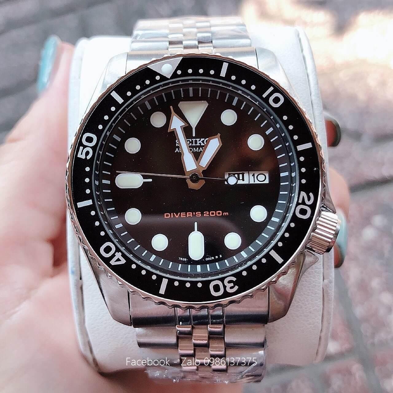 Đồng Hồ Seiko Nam Automatic Diver's 200m Đen
