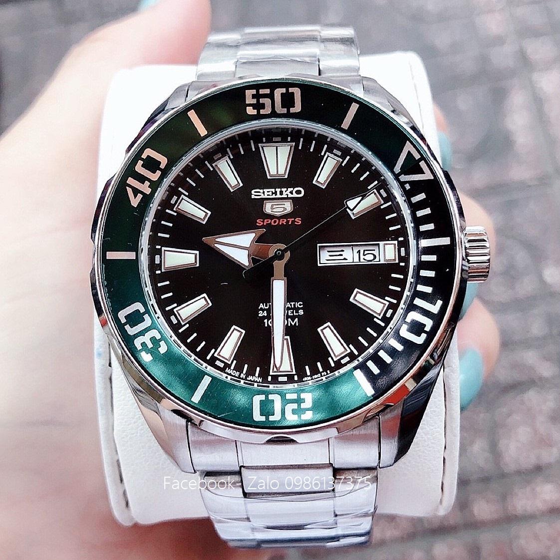 Đồng Hồ Seiko Nam 5 Sports Automatic Black 45mm