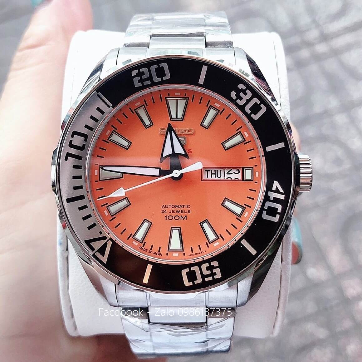 Đồng Hồ Seiko Nam 5 Sports Automatic Orange 45mm