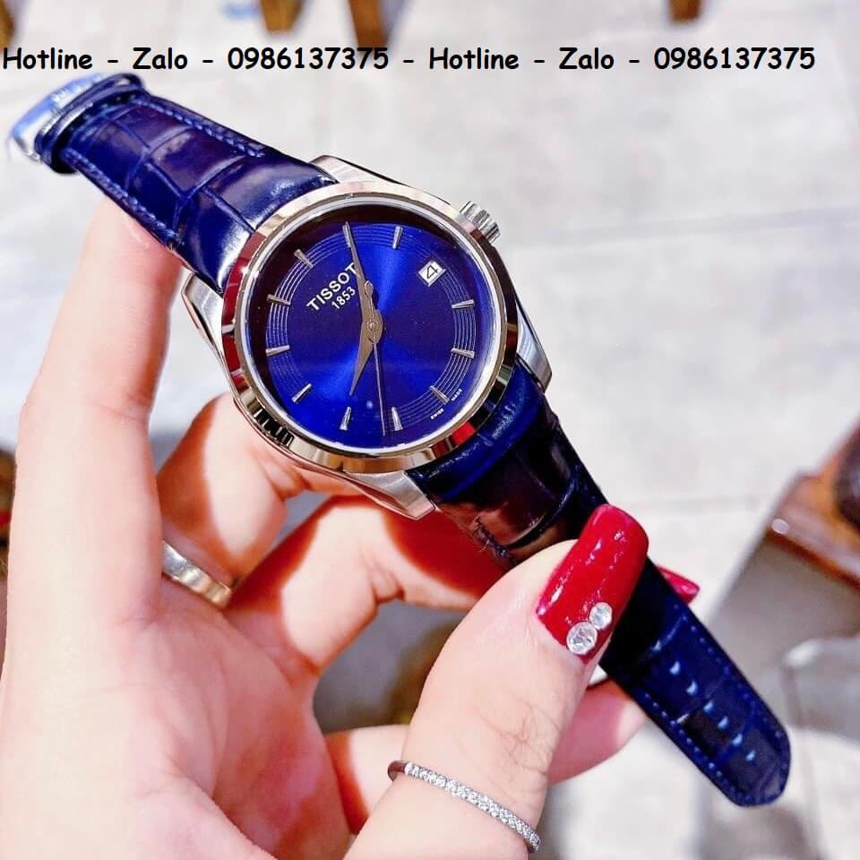Đồng Hồ Tissot Nữ Dây Da Xanh 32mm