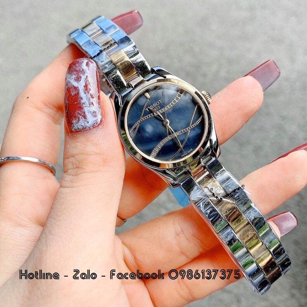 Đồng Hồ Tissot Nữ Demi Mặt Xanh Gợn Sóng 32mm