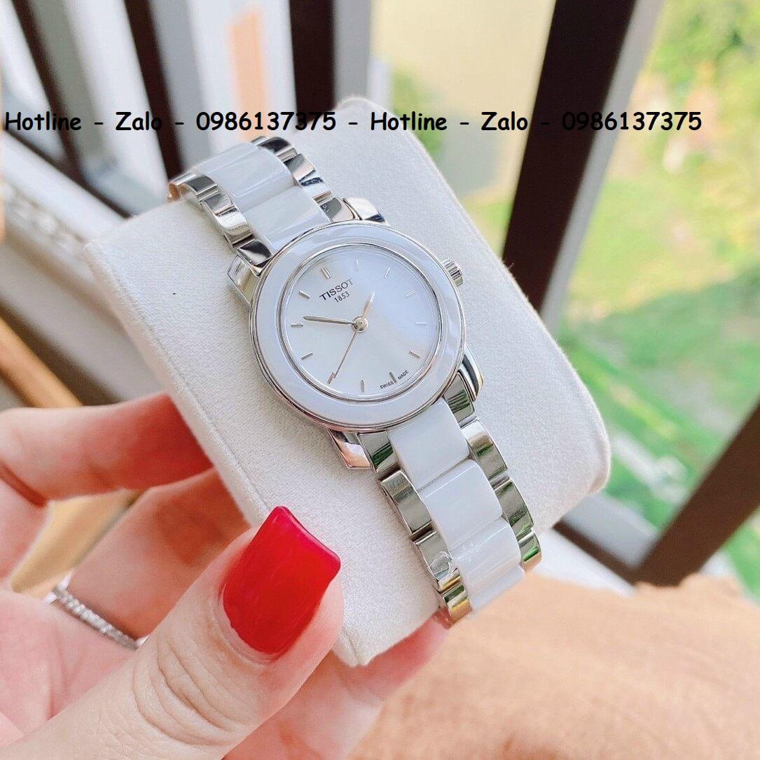 Đồng Hồ Tissot Nữ Siêu Cấp Đá Ceramic Trắng 28mm