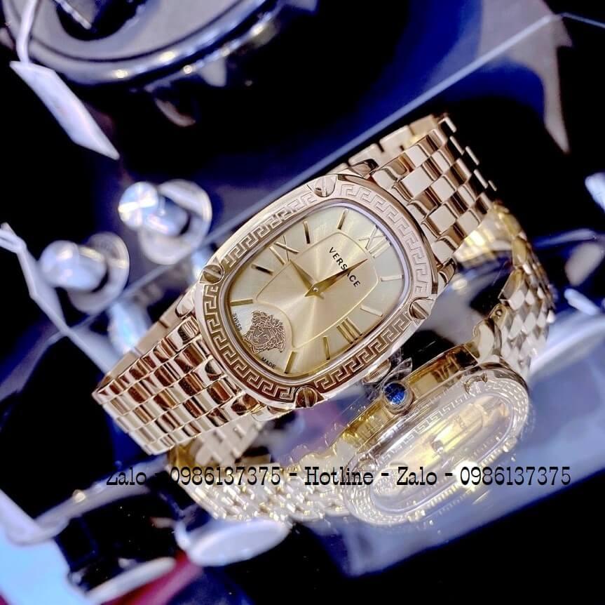 Đồng Hồ Nữ Versace Couture Vàng Mặt Vàng 30x37mm