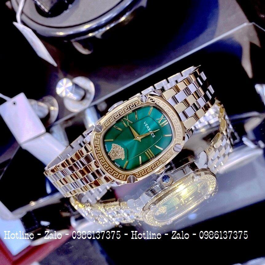 Đồng Hồ Nữ Versace Couture Demi Vàng Mặt Xanh 30x37mm