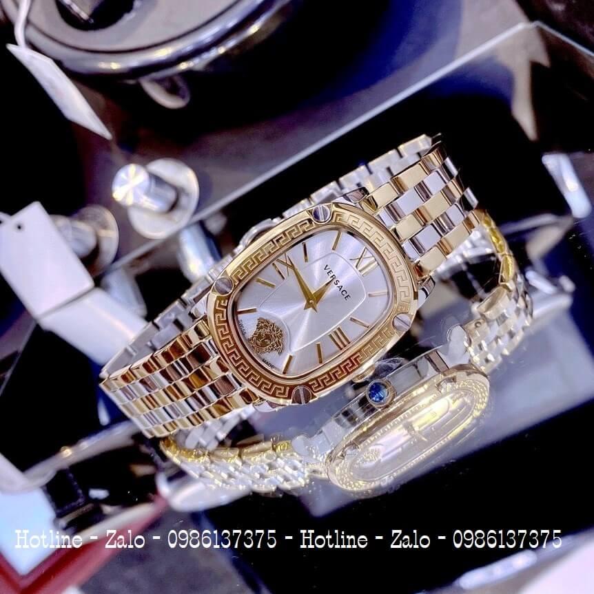 Đồng Hồ Nữ Versace Couture Demi Vàng Mặt Trắng 30x37mm