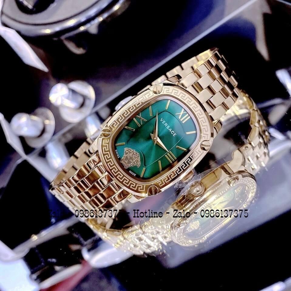 Đồng Hồ Nữ Versace Couture Vàng Mặt Xanh 30x37mm