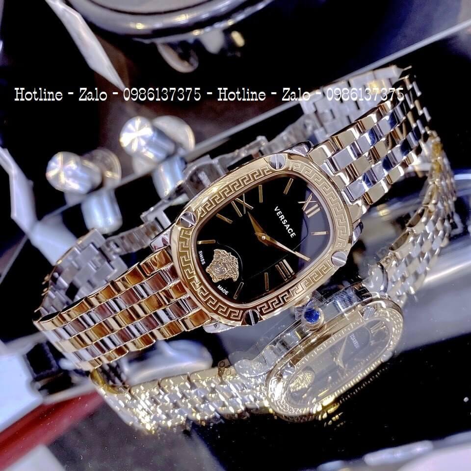 Đồng Hồ Nữ Versace Couture Demi Vàng Mặt Đen 30x37mm
