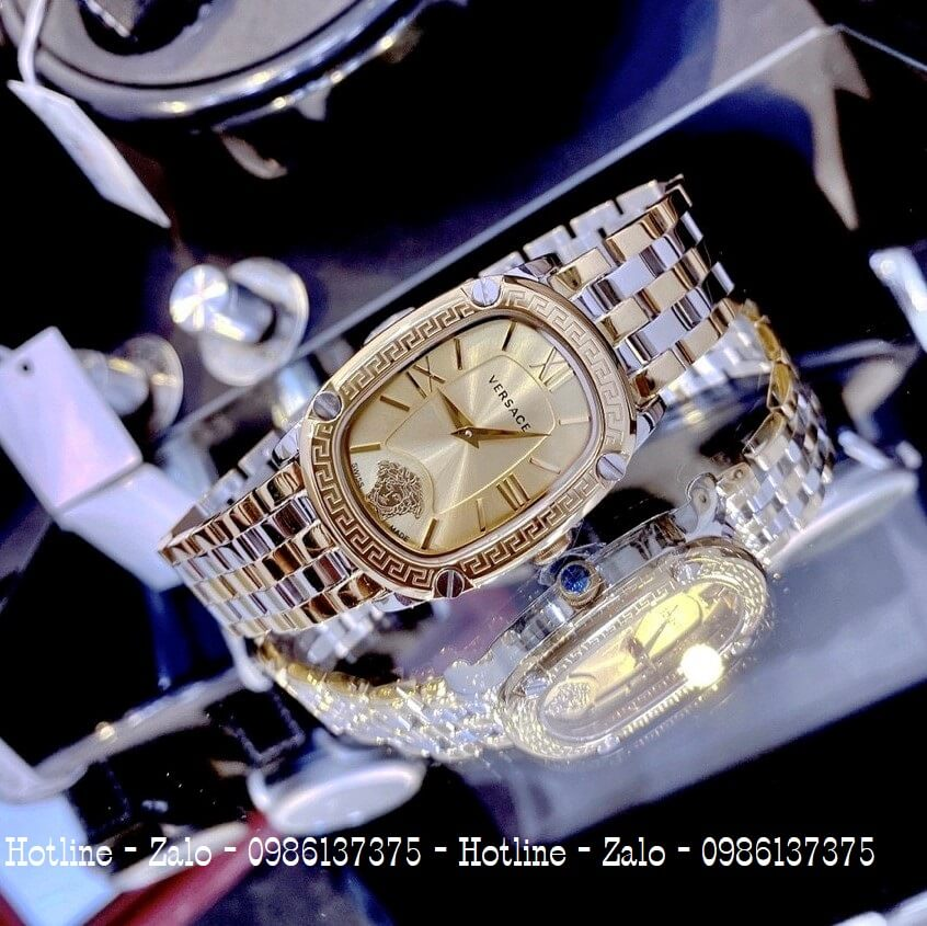 Đồng Hồ Nữ Versace Couture Demi Vàng Mặt Vàng 30x37mm