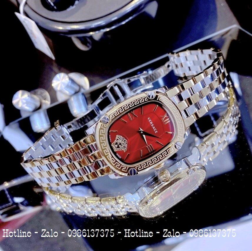 Đồng Hồ Nữ Versace Couture Demi Vàng Mặt Đỏ 30x37mm