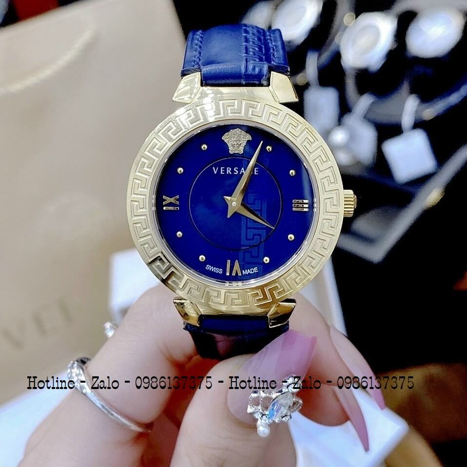 Đồng Hồ Cặp Versace Aion 44mm Versace Daphnis 35mm Xanh