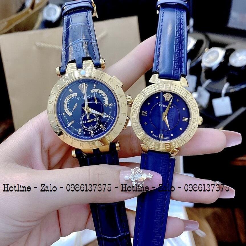 Đồng Hồ Cặp Versace Aion 44mm Versace Daphnis 35mm Blue