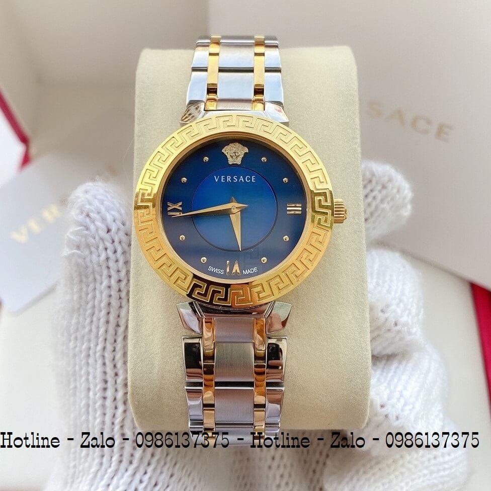 Đồng Hồ Versace Daphnis Demi Vàng Mặt Xanh Nữ 35mm