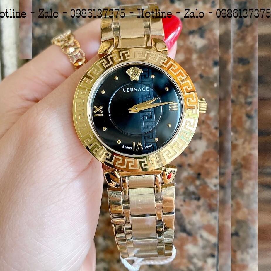Đồng Hồ Versace Daphnis Vàng Mặt Đen Nữ 35mm
