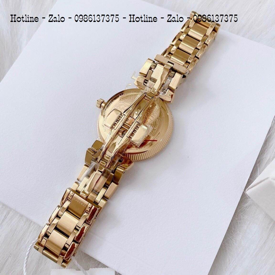 Đồng Hồ Cặp Versace Aion 44mm - Versace Daphnis 35mm - Vàng Đen