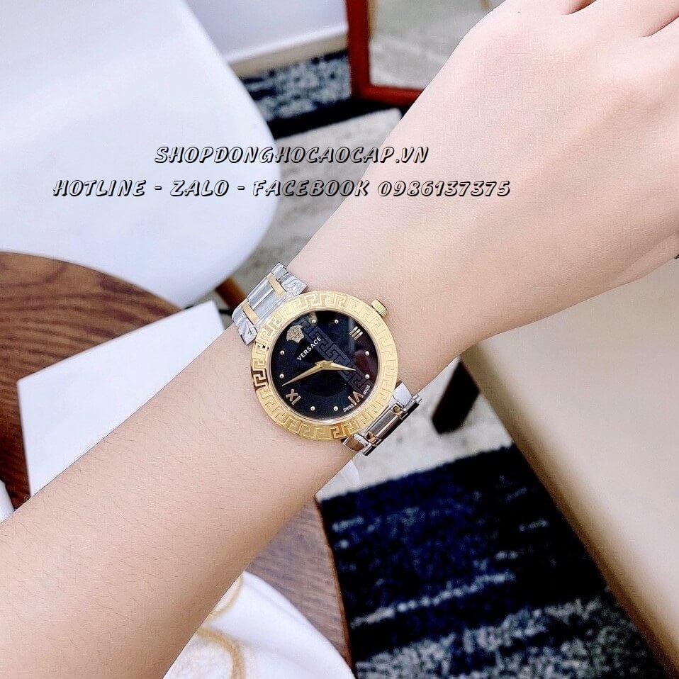 Đồng Hồ Cặp Versace Aion 44mm - Versace Daphnis 35mm - Demi Đen