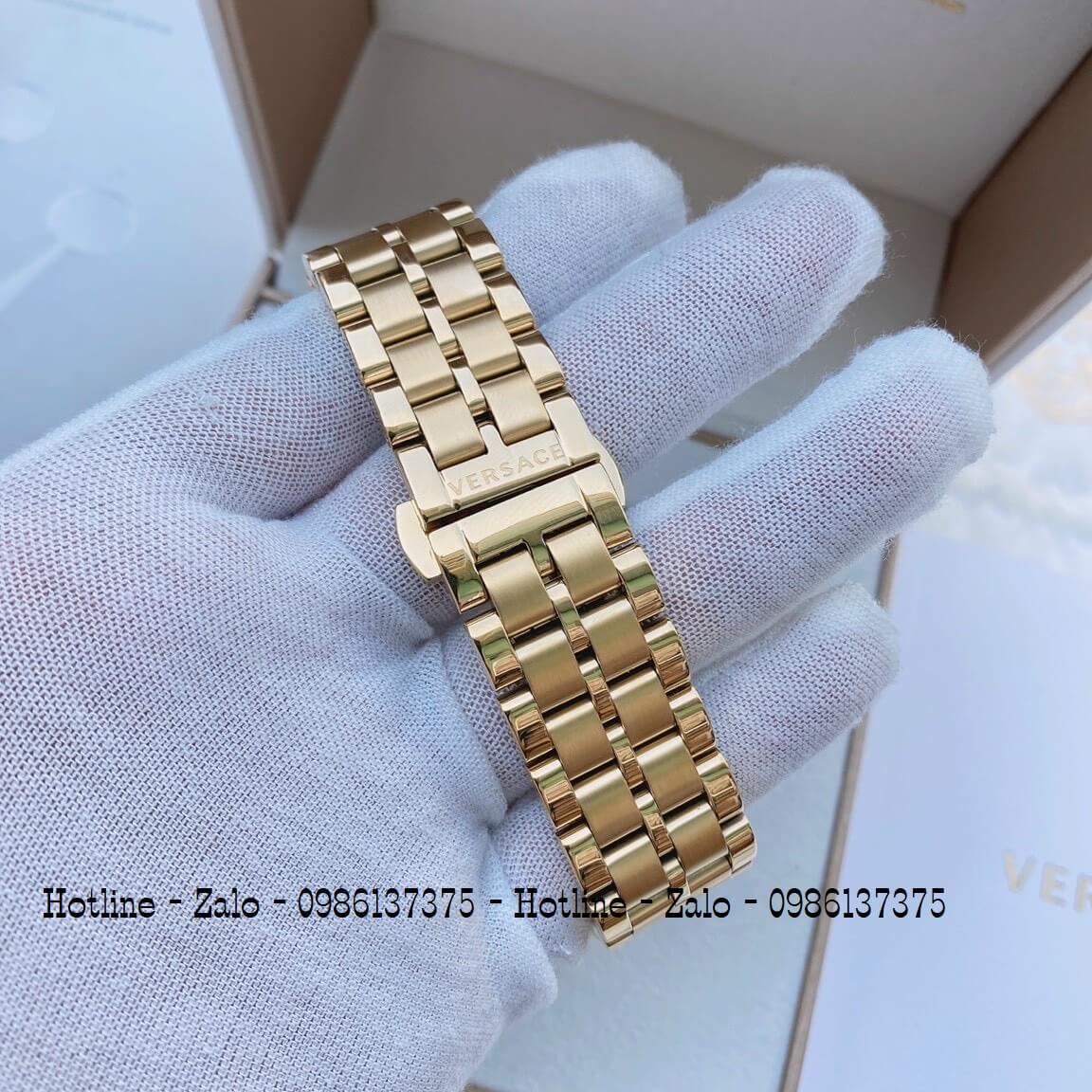 Đồng Hồ Cặp Versace Aion 44mm - Versace Daphnis 35mm - Vàng Trắng