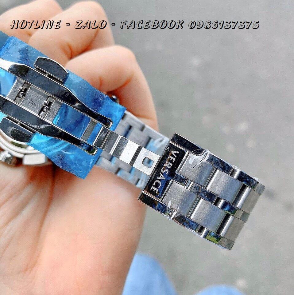Đồng Hồ Cặp Versace Aion 44mm - Versace Daphnis 35mm - Bạc Đen