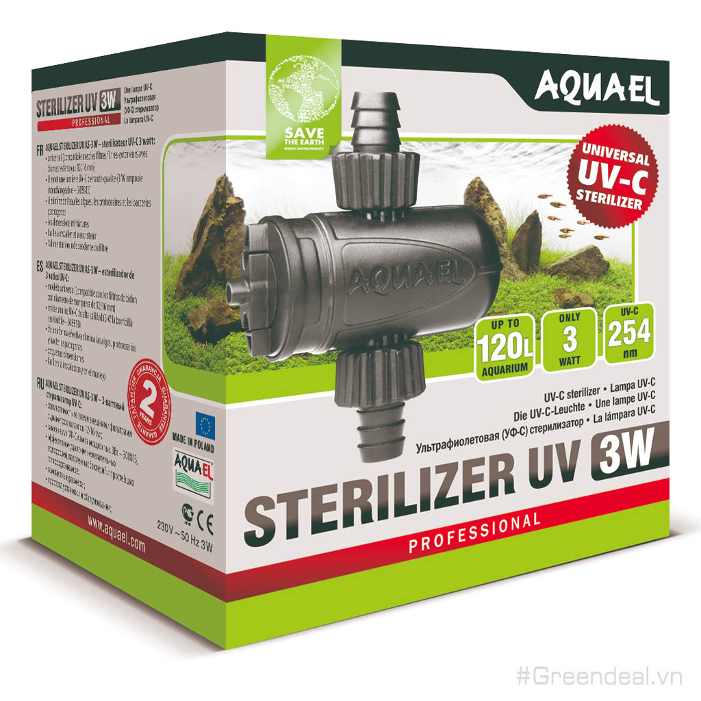 AQUAEL - Sterilizer UV AS-3