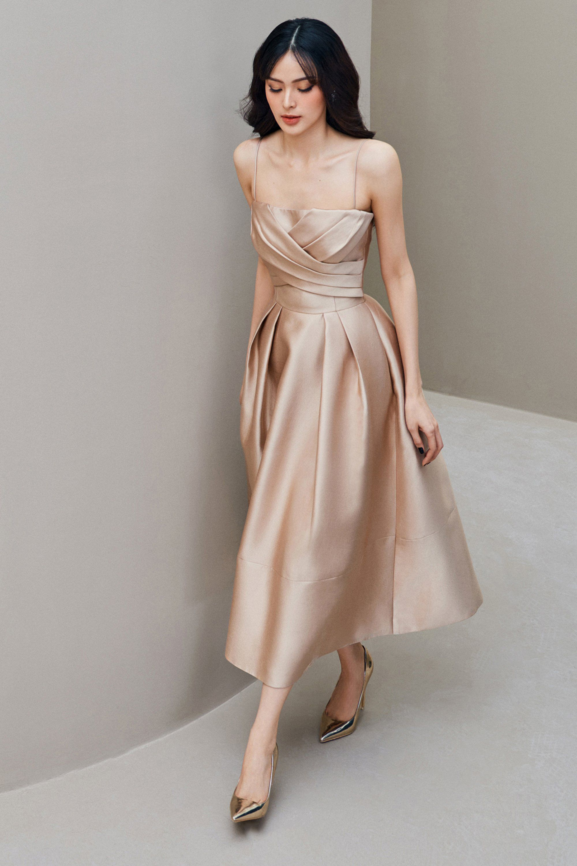 Đầm xòe 2 dây #2953