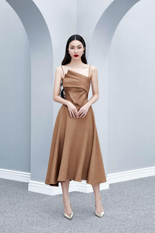 Đầm xòe 2 dây bèo xếp ly  váy ren thiết kế nữ tính cao cấp #2607