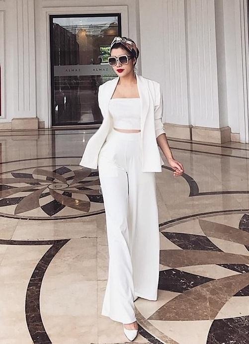 Set vest quần suông kèm áo ống thiết kế sang trọng cao cấp #1406