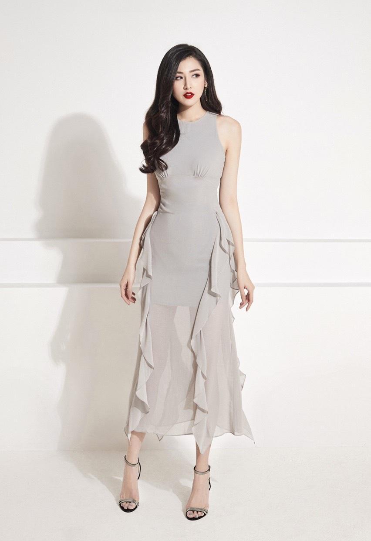 Đầm voan sát nách váy bèo hông thiết kế tinh tế cao cấp #1816